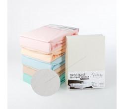 Простынь на резинке трикотажная (PT молочная)