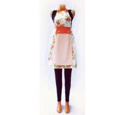 Фартук с полотенцем (цветы мелкие оранжевые)