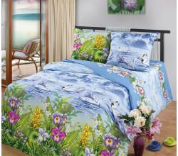 Постельное белье Хлопковый рай Лебединое озеро (цветное) Бязь