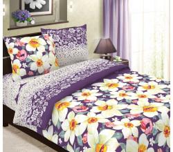 Постельное белье Хлопковый рай Нарциссы вид фиолетовый Бязь