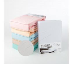 Простынь на резинке трикотажная (PT белая)