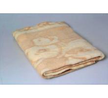 Одеяло шерстяное бежевое 85%шерсть, 15%ПЕ