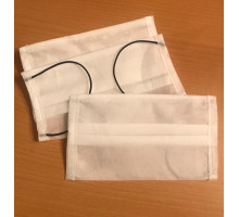 Защитные маски для лица двухслойные белые